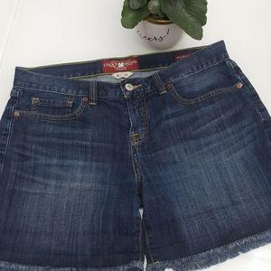 LUCKY BRAND Stretch Denim Frayed shorts